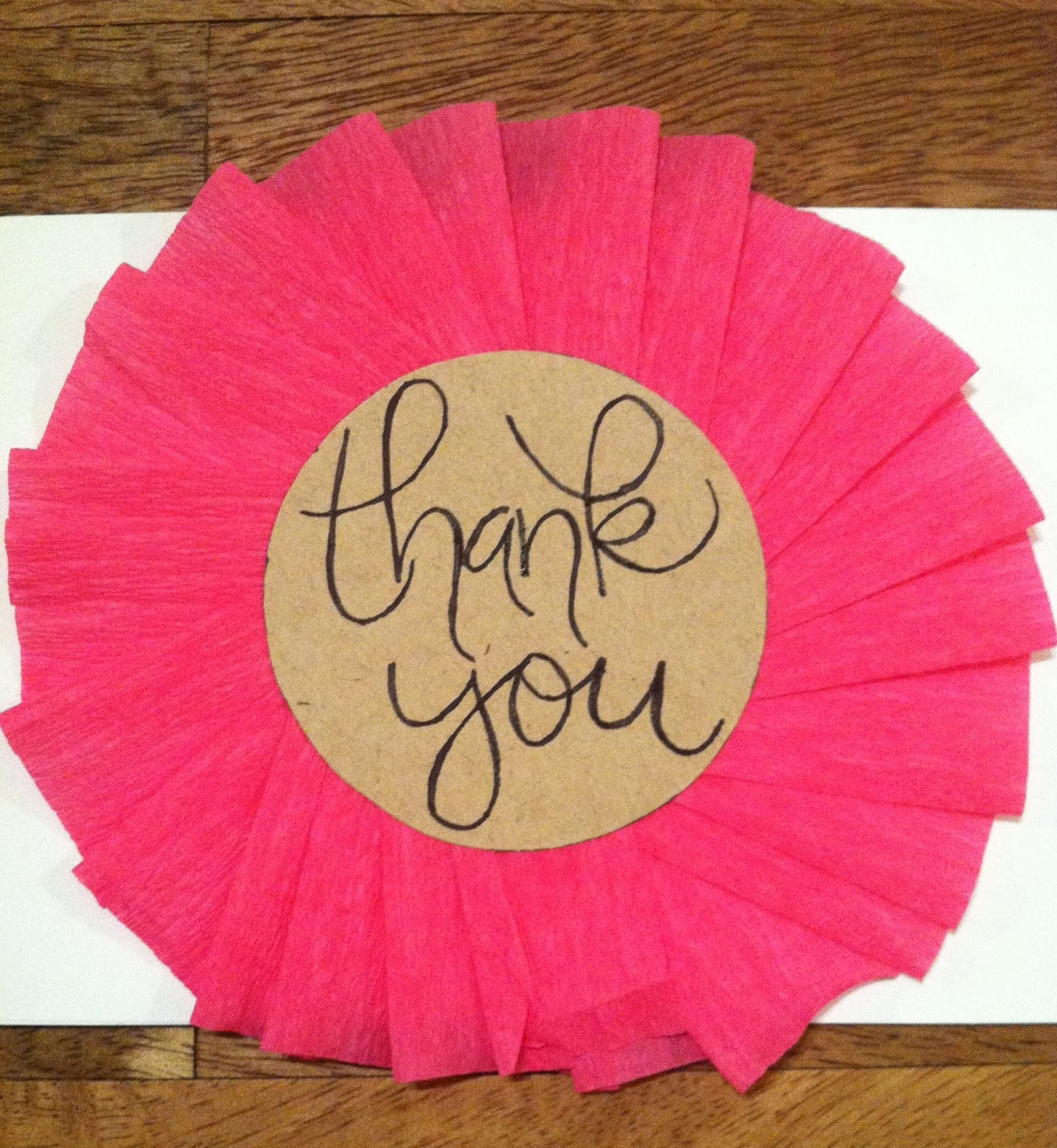 Create Diy Girly Thank You Cards What Hopes Dreams
