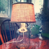 CREATE  |  DIY Bottle Lamp inspired by Pottery Barn