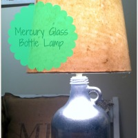CREATE  |  DIY Mercury Glass Bottle Lamp