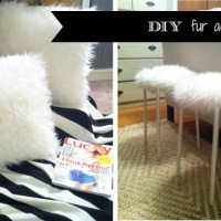 CREATE  |  DIY faux fur ottoman and pillow