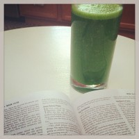 ramblings: green drinks, good books + great dishes