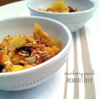 cranberry peach breakfast crisp