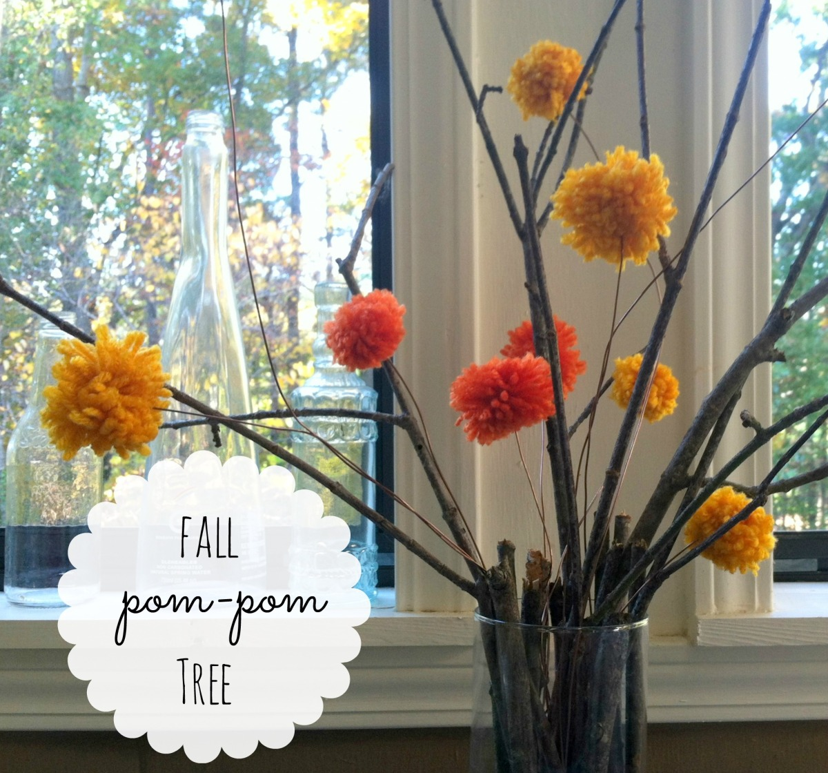 CREATE  | DIY Fall pom-pom tree