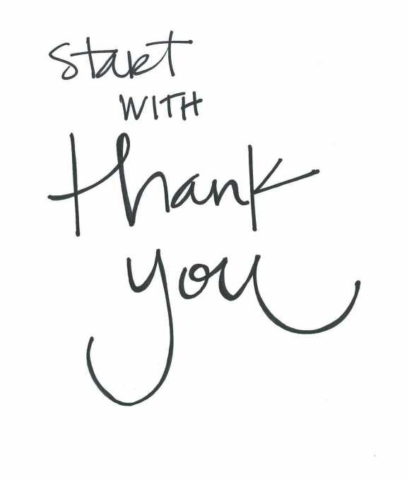 start with thank you