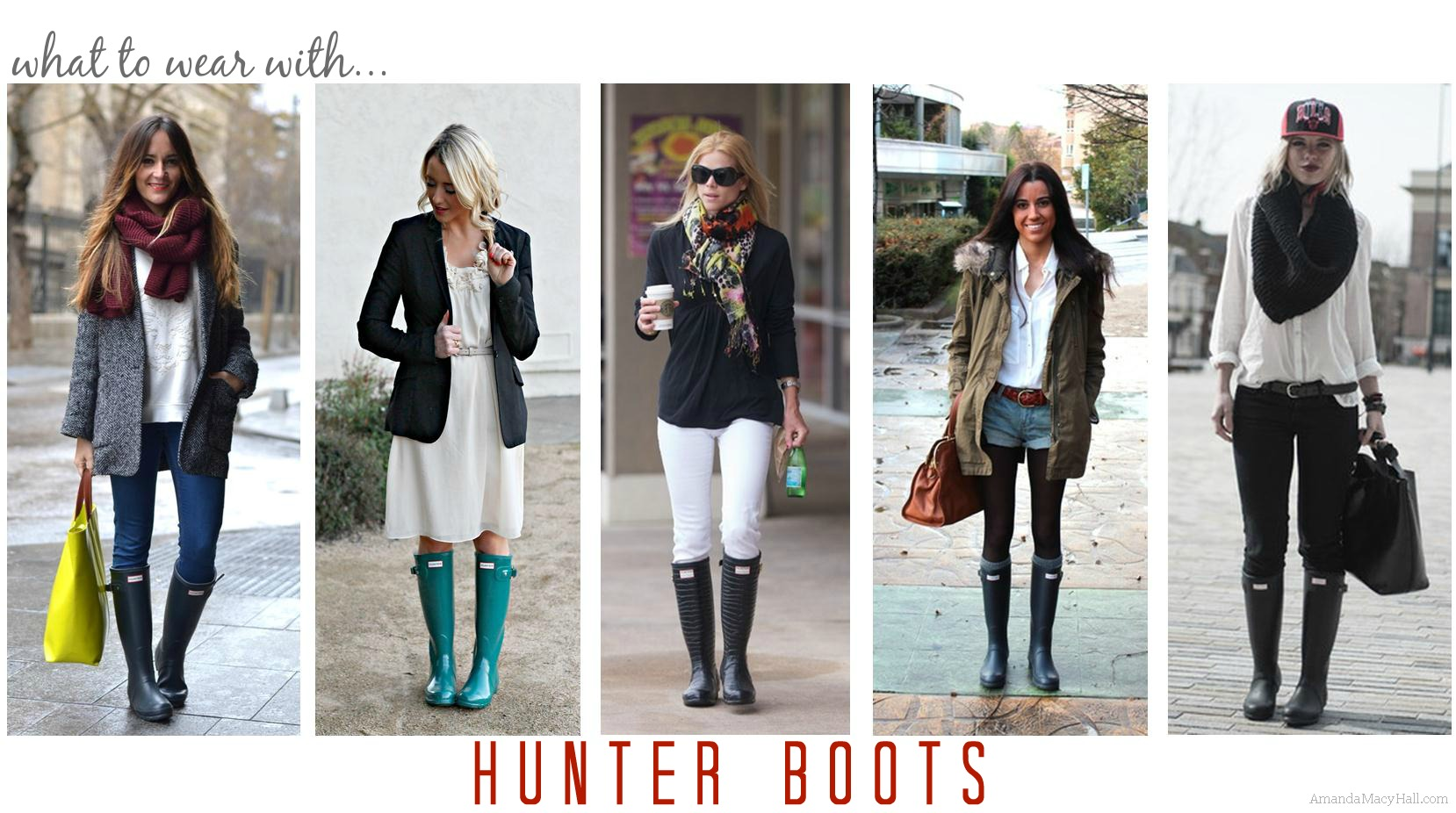 Outfit Inspiration Hunter Boots What Hopes amp Dreams Are