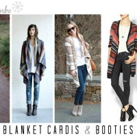 cold weather combo: blanket cardigans & booties