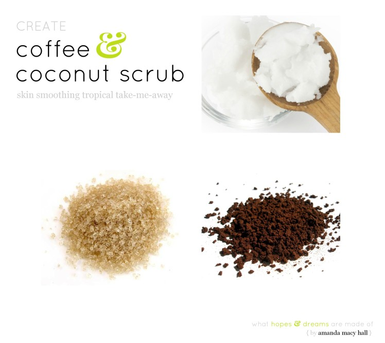 coffee coconut oil scrub amanda macy hall