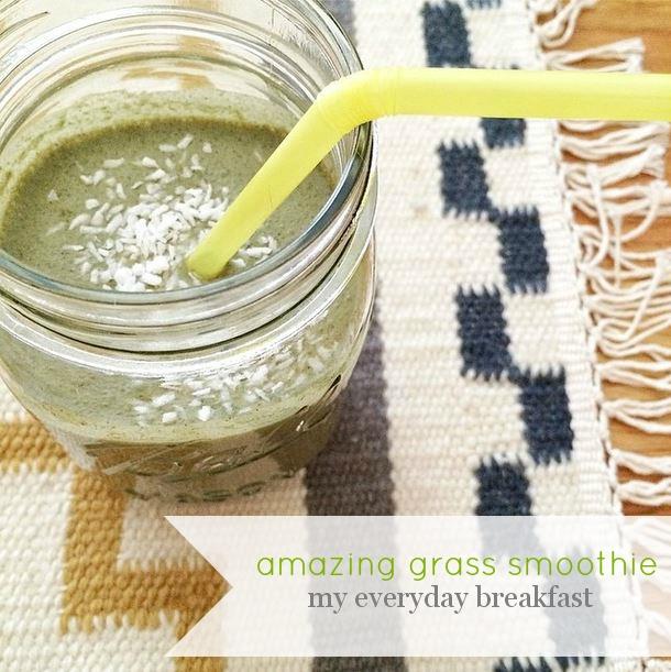 amanda macy hall amazing grass smoothie everyday breakfast