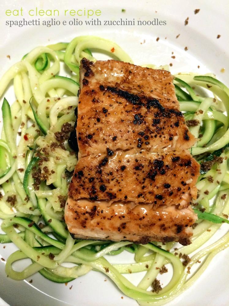 Spaghetti Aglio E Olio Recipe with Zucchini Noodles amanda macy hall