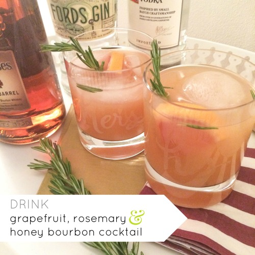 drink amanda macy hall grapefruit rosemary honey bourbon cocktail