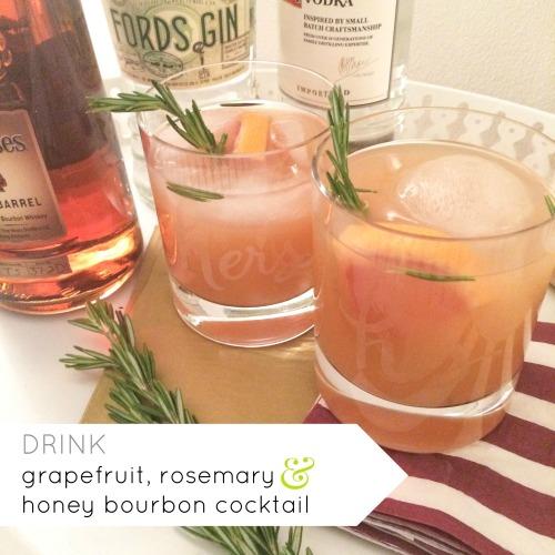 drink amanda macy hall grapefruit rosemary honey bourbon cocktail