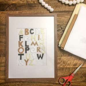 diy felt alphabet wall art amanda macy hall