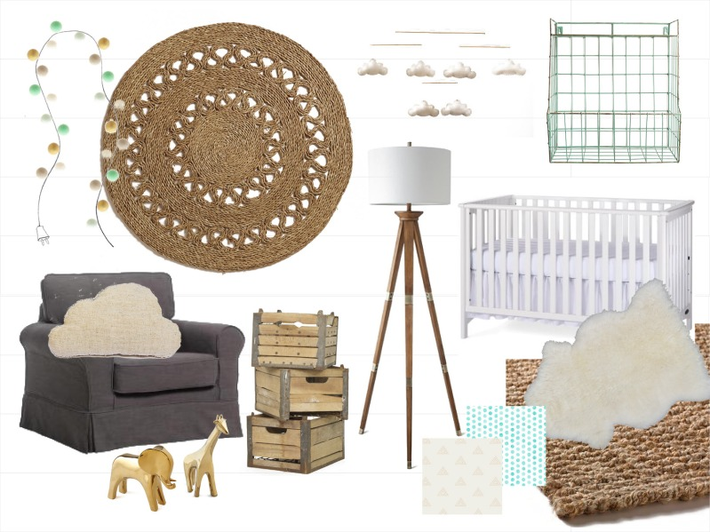 rustic mint natural neutral nursery inspiration amanda macy hall