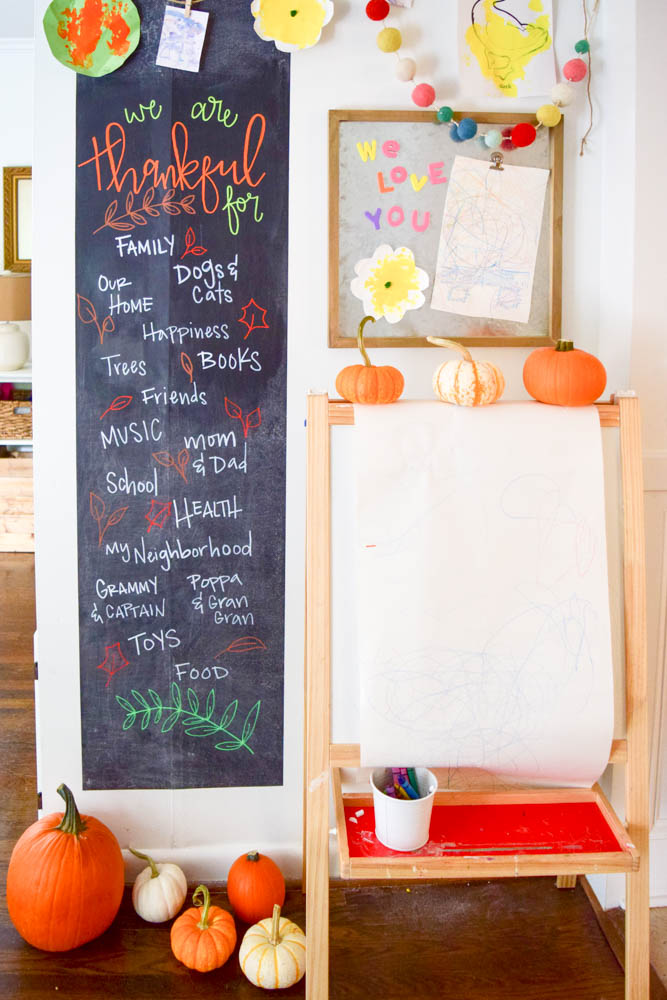 An Easy DIY Chalkboard Project Your Family Will Be Thankful For by Amanda Macy Hall for Project Nursery Project Junior and Kassa