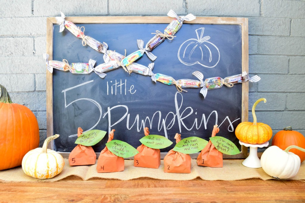 Halloween DIY Easy Candy Pumpkin Countdown by Amanda Macy Hall for Project Nursery Project Junior Mars Candy