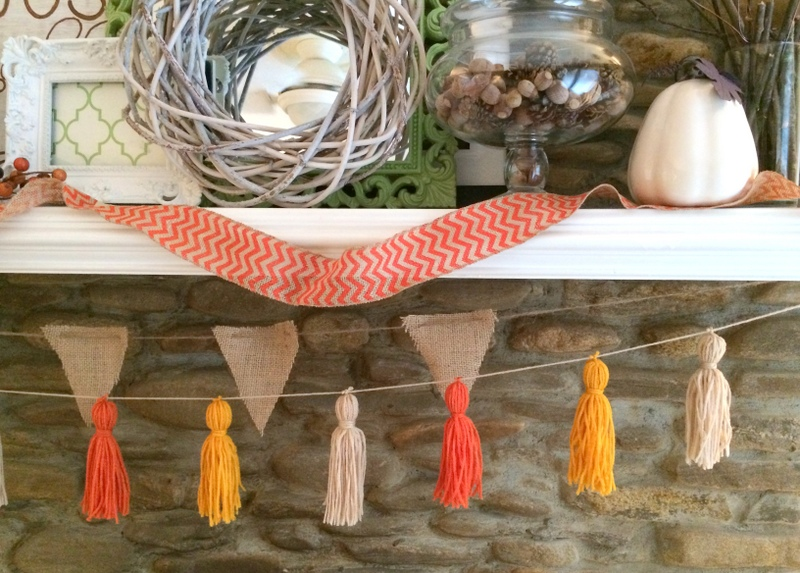 DIY Fall Tassel Garland by Amanda Macy Hall
