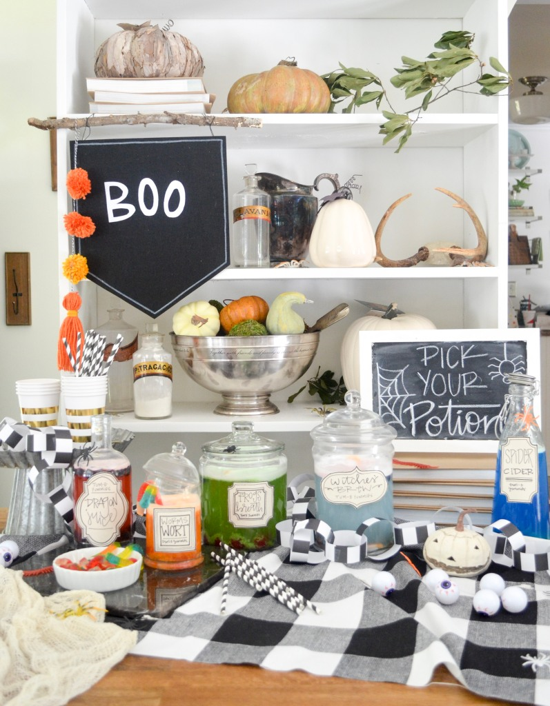 Pick Your Potion! A Kid-Friendly Halloween Party DIY by Amanda Macy Hall for Project Junior Project Nursery and Tum-E Yummies
