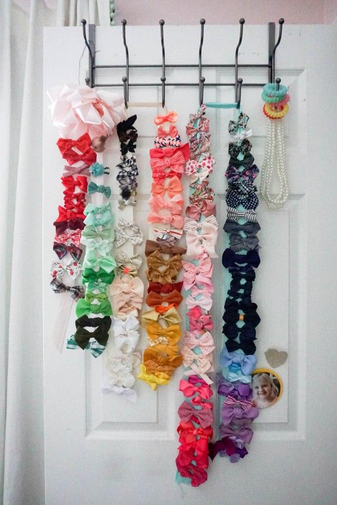 Amanda Macy Hall Toddler Girl Room Organization Bow Storage DIY