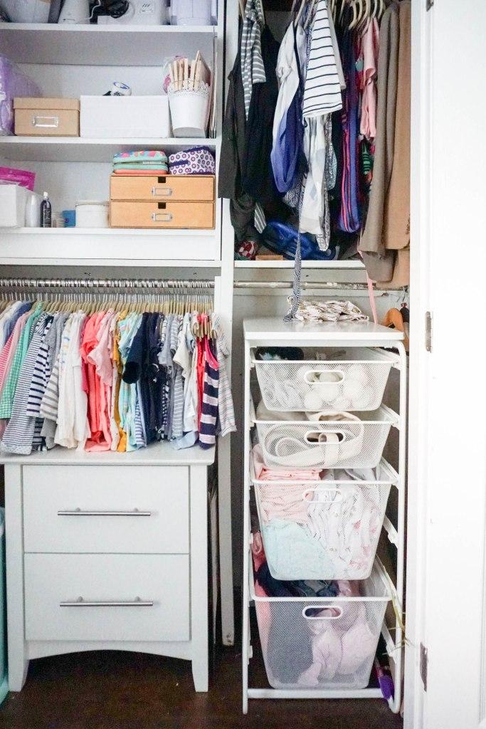 Amanda Macy Hall Toddler Girl Room Organization Closet Drawers