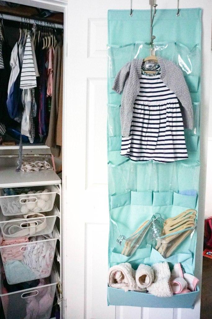 Amanda Macy Hall Toddler Girl Room Organization Closet Door