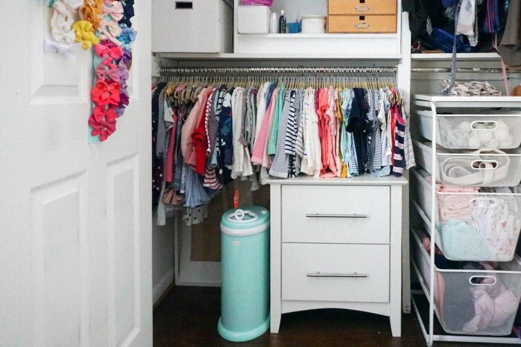 Amanda Macy Hall Toddler Girl Room Organization Closet