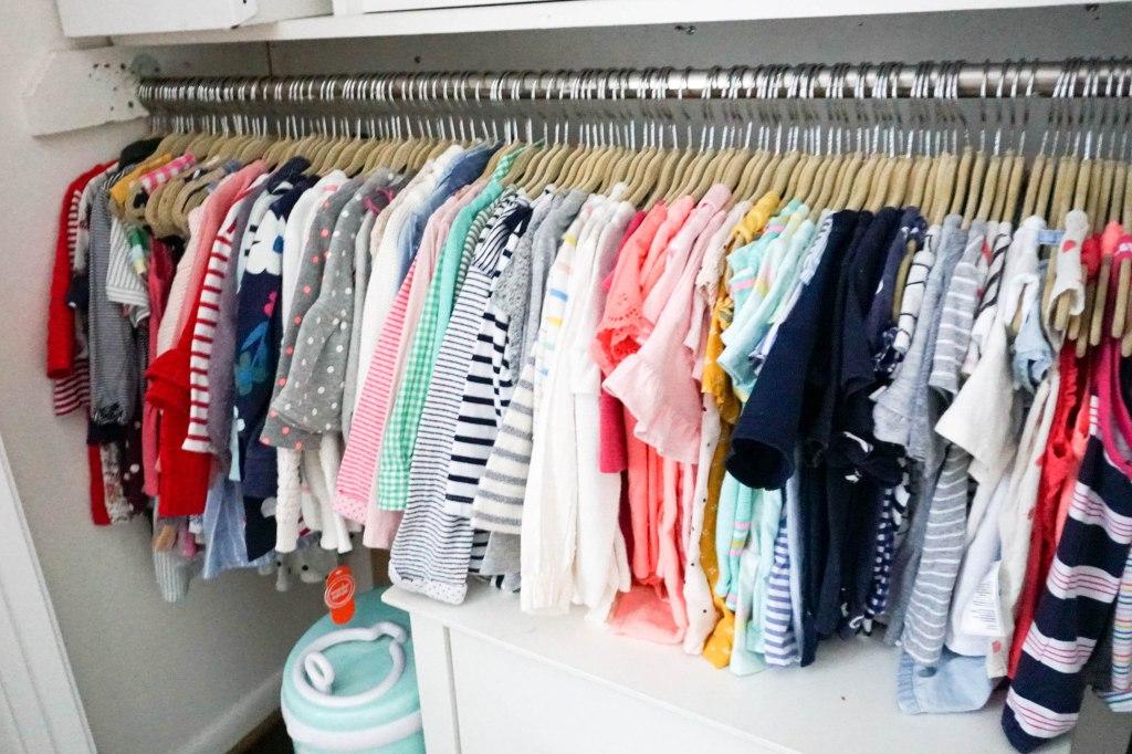 Amanda Macy Hall Toddler Girl Room Organization Closet Clothes