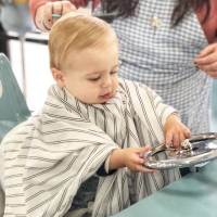 Austin's First Haircut!