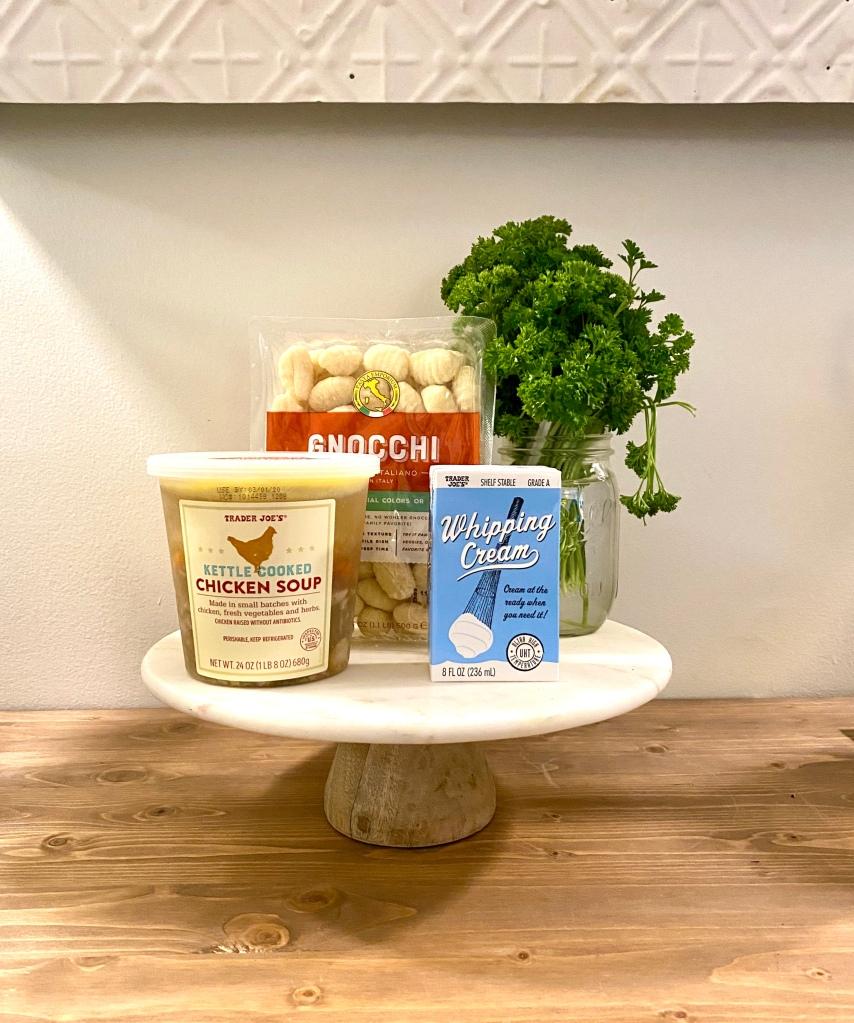 Amanda Macy Hall Trader Joes Creamy Chicken Gnocchi Soup